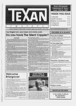 Primary view of object titled 'The Texan Newspaper (Bellaire, Tex.), Vol. 37, No. 10, Ed. 1 Wednesday, March 8, 1989'.
