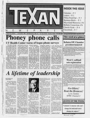 Primary view of object titled 'The Texan Newspaper (Houston, Tex.), Vol. 36, No. 1, Ed. 1 Wednesday, January 6, 1988'.