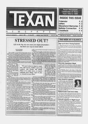Primary view of object titled 'The Texan Newspaper (Bellaire and Houston, Tex.), Vol. 37, No. 25, Ed. 1 Wednesday, June 21, 1989'.