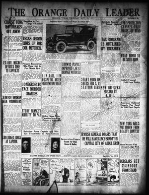 Primary view of object titled 'The Orange Daily Leader (Orange, Tex.), Vol. 11, No. 68, Ed. 1 Thursday, September 10, 1925'.