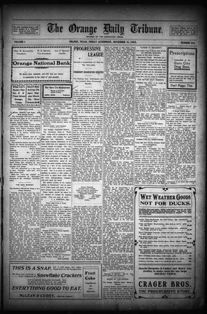 Primary view of object titled 'The Orange Daily Tribune. (Orange, Tex.), Vol. 1, No. 216, Ed. 1 Friday, November 21, 1902'.