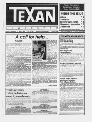 Primary view of object titled 'The Texan Newspaper (Bellaire and Houston, Tex.), Vol. 37, No. 18, Ed. 1 Wednesday, May 3, 1989'.