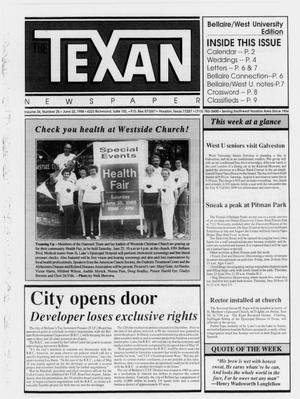 Primary view of object titled 'The Texan Newspaper (Houston, Tex.), Vol. 36, No. 25, Ed. 1 Wednesday, June 22, 1988'.