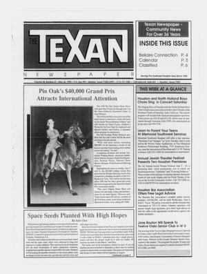 Primary view of object titled 'The Texan Newspaper (Bellaire and Houston, Tex.), Vol. 38, No. 21, Ed. 1 Wednesday, May 30, 1990'.