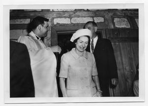 Primary view of object titled '[Lady Bird and Lyndon Johnson Inside Saint Barnabas Episcopal Church]'.