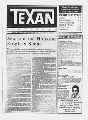Primary view of object titled 'The Texan Newspaper (Bellaire, Tex.), Vol. 37, No. 8, Ed. 1 Wednesday, February 22, 1989'.