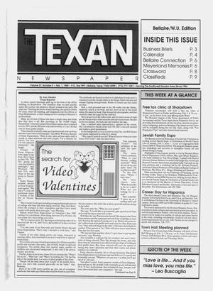 Primary view of object titled 'The Texan Newspaper (Bellaire, Tex.), Vol. 37, No. 5, Ed. 1 Wednesday, February 1, 1989'.