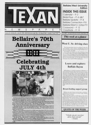 Primary view of object titled 'The Texan Newspaper (Houston, Tex.), Vol. 36, No. 26, Ed. 1 Wednesday, June 29, 1988'.