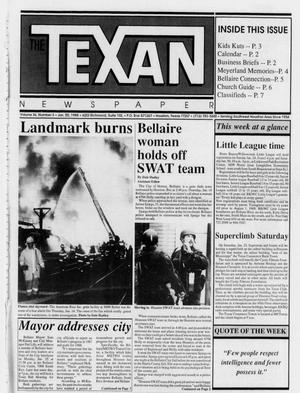Primary view of object titled 'The Texan Newspaper (Houston, Tex.), Vol. 36, No. 3, Ed. 1 Wednesday, January 20, 1988'.