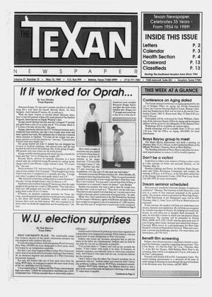 Primary view of object titled 'The Texan Newspaper (Bellaire and Houston, Tex.), Vol. 37, No. 19, Ed. 1 Wednesday, May 10, 1989'.