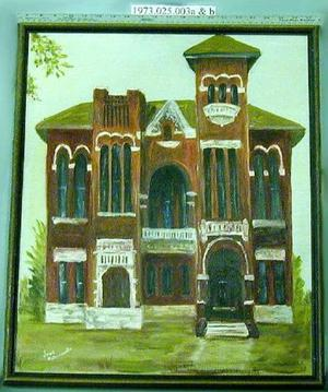 Primary view of object titled 'Painting of the Old Richmond Jail'.