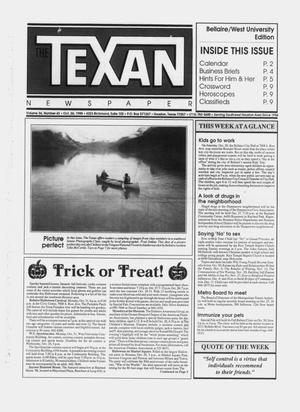 Primary view of object titled 'The Texan Newspaper (Houston, Tex.), Vol. 36, No. 43, Ed. 1 Wednesday, October 26, 1988'.