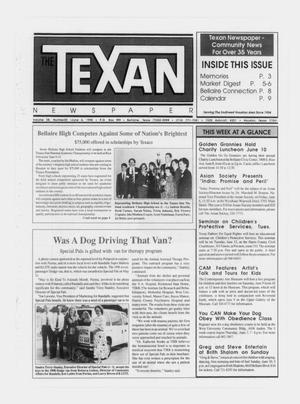 Primary view of object titled 'The Texan Newspaper (Bellaire and Houston, Tex.), Vol. 38, No. 22, Ed. 1 Wednesday, June 6, 1990'.