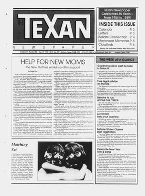 Primary view of object titled 'The Texan Newspaper (Bellaire and Houston, Tex.), Vol. 37, No. 52, Ed. 1 Wednesday, December 27, 1989'.