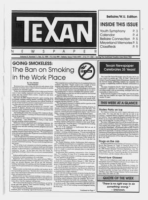 Primary view of object titled 'The Texan Newspaper (Bellaire, Tex.), Vol. 37, No. 7, Ed. 1 Wednesday, February 15, 1989'.