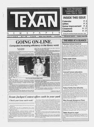 Primary view of object titled 'The Texan Newspaper (Bellaire and Houston, Tex.), Vol. 37, No. 20, Ed. 1 Wednesday, May 17, 1989'.