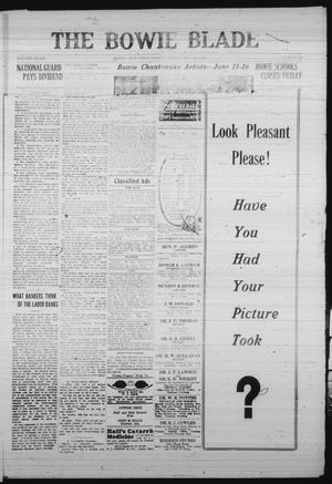 The Bowie Blade (Bowie, Tex.), Vol. 33, No. 33, Ed. 1 Thursday, May 22, 1924