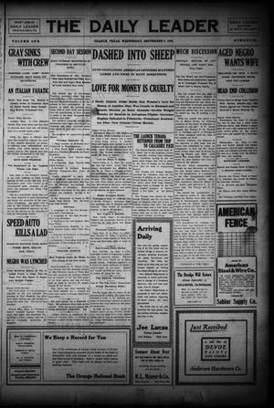 Primary view of object titled 'The Daily Leader (Orange, Tex.), Vol. 1, No. 138, Ed. 1 Wednesday, September 9, 1908'.