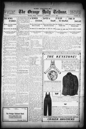 Primary view of object titled 'The Orange Daily Tribune. (Orange, Tex.), Vol. 1, No. 100, Ed. 1 Wednesday, July 9, 1902'.