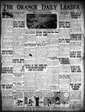 Primary view of object titled 'The Orange Daily Leader (Orange, Tex.), Vol. 11, No. 78, Ed. 1 Tuesday, September 22, 1925'.