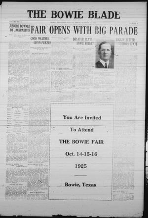 The Bowie Blade (Bowie, Tex.), Vol. 35, No. 2, Ed. 1 Thursday, October 15, 1925