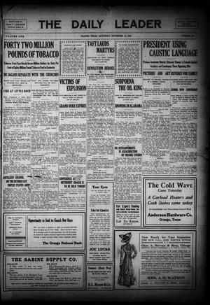 Primary view of The Daily Leader (Orange, Tex.), Vol. 1, No. 194, Ed. 1 Saturday, November 14, 1908