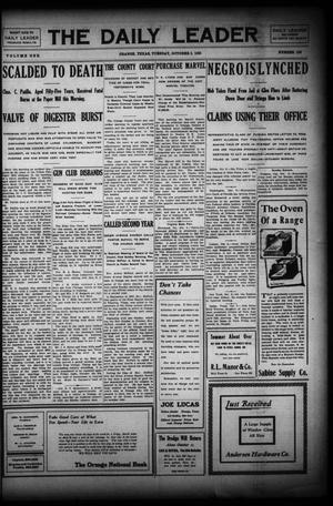 Primary view of The Daily Leader (Orange, Tex.), Vol. 1, No. 156, Ed. 1 Tuesday, October 6, 1908
