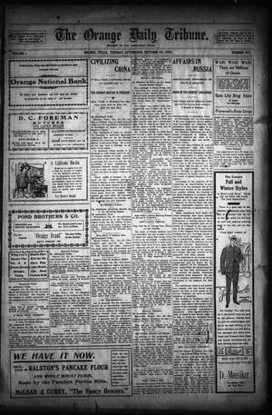 Primary view of object titled 'The Orange Daily Tribune. (Orange, Tex.), Vol. 1, No. 195, Ed. 1 Tuesday, October 28, 1902'.