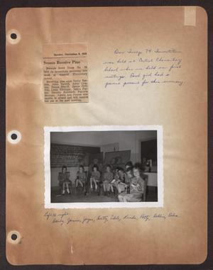 Primary view of object titled '[Scrapbook Page: Brownie Investiture]'.