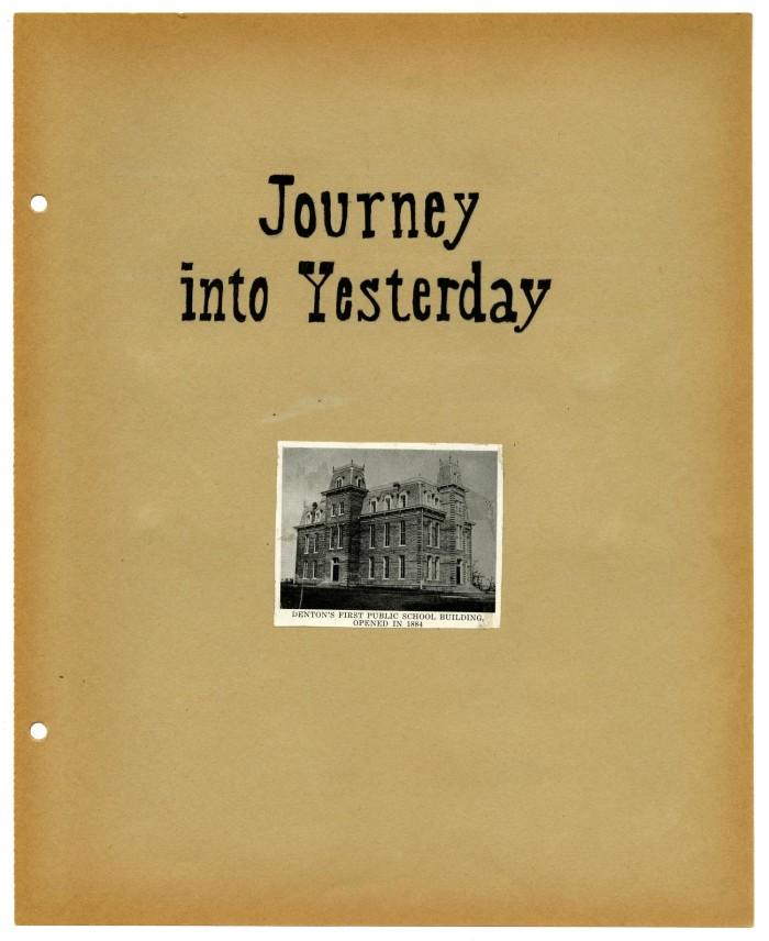 Scrapbook Title Page Journey Into Yesterday The Portal To Texas