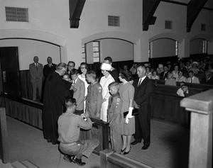 Primary view of object titled '[Boy Scouts at the First United Methodist Church]'.