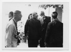Primary view of object titled '[Lyndon Johnson with People]'.