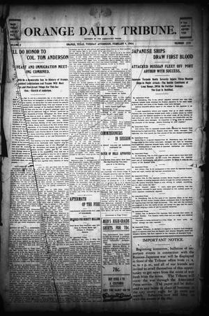 Primary view of object titled 'Orange Daily Tribune. (Orange, Tex.), Vol. 2, No. 270, Ed. 1 Tuesday, February 9, 1904'.