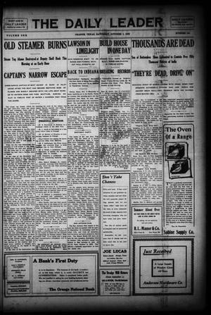 Primary view of The Daily Leader (Orange, Tex.), Vol. 1, No. 154, Ed. 1 Saturday, October 3, 1908