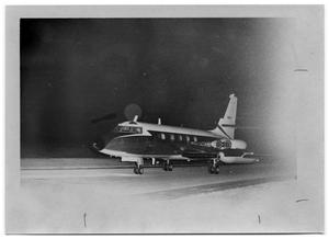 Primary view of object titled '[Airplane on a Runway]'.
