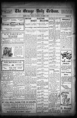 Primary view of object titled 'The Orange Daily Tribune. (Orange, Tex.), Vol. 1, No. 201, Ed. 1 Tuesday, November 4, 1902'.