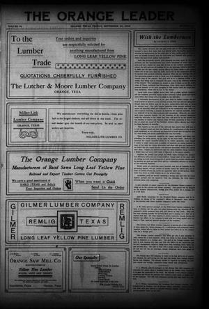 Primary view of The Daily Leader (Orange, Tex.), Vol. 18, No. 23, Ed. 1 Friday, September 25, 1908