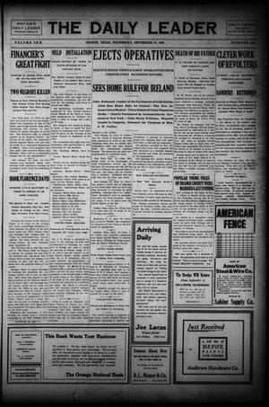 Primary view of object titled 'The Daily Leader (Orange, Tex.), Vol. 1, No. 142, Ed. 1 Wednesday, September 16, 1908'.