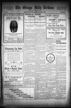 Primary view of object titled 'The Orange Daily Tribune. (Orange, Tex.), Vol. 1, No. 252, Ed. 1 Monday, January 5, 1903'.