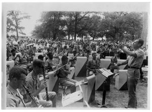 Primary view of object titled '[A Band Plays Outside]'.