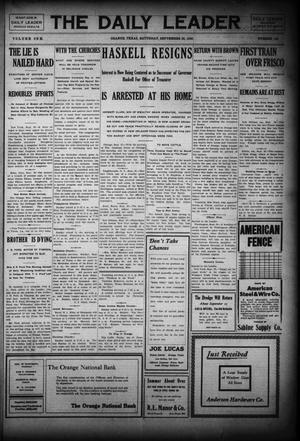 Primary view of object titled 'The Daily Leader (Orange, Tex.), Vol. 1, No. 149, Ed. 1 Saturday, September 26, 1908'.