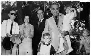 Primary view of object titled '[Group Photo with Lyndon Johnson and Others]'.