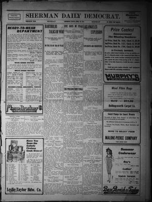 Primary view of object titled 'Sherman Daily Democrat. (Sherman, Tex.), Vol. THIRTIETH YEAR, Ed. 1 Monday, April 24, 1911'.