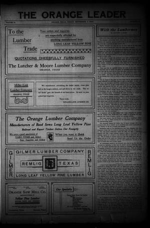 Primary view of object titled 'The Daily Leader (Orange, Tex.), Vol. 18, No. 20, Ed. 1 Friday, September 4, 1908'.