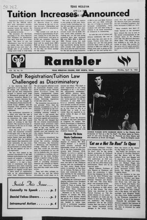 Primary view of object titled 'Rambler (Fort Worth, Tex.), Vol. 58, No. 24, Ed. 1 Monday, April 18, 1983'.