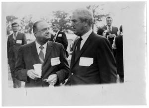 [John Connally and Others Wearing Name Tags]