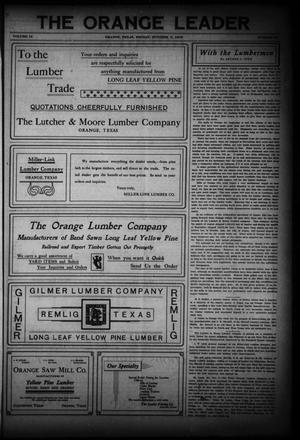 Primary view of The Daily Leader (Orange, Tex.), Vol. 18, No. 24, Ed. 1 Friday, October 2, 1908