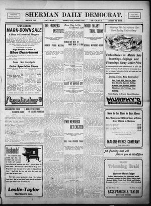 Primary view of object titled 'Sherman Daily Democrat. (Sherman, Tex.), Vol. THIRTIETH YEAR, Ed. 1 Saturday, January 14, 1911'.