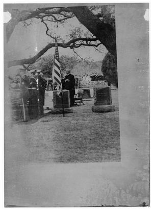 Primary view of object titled '[Burial of Lyndon Johnson]'.