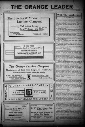 Primary view of object titled 'The Orange Leader (Orange, Tex.), Vol. 19, No. 2, Ed. 1 Friday, March 5, 1909'.